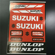 Motorcycle Vinyl Emblem Decals for S Suzuki DUNLOP Racing Motor Badge Stickers
