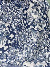 New listing Ralph Lauren Porcelain Tamarind King Bed Skirt Dust Ruffle 15� Split Corners Euc