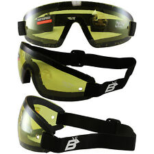 3 BIRDZ WING SKYDIVE SKYDIVING GOGGLES PARAGLIDING YELLOW UV400