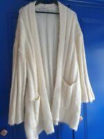 Women's 'ZARA Knit' Oversized Cream Cardigan - Size M