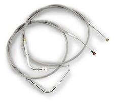 """FXST 1987-2006 6/"""" over stock length 69.25/"""" CLUTCH CABLE CLEAR STAINLESS STEEL"""