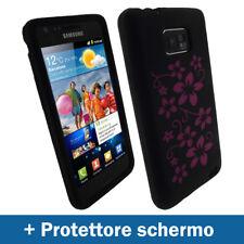 Nero Floreale Custodia per Samsung Galaxy S 2 ii i9100 Silicone Skin Case Cover