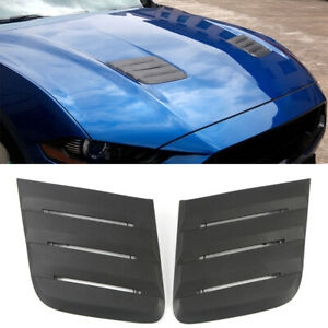 For Ford Mustang 2018-2020 Accessories Front Hood Bonnets Vent Intake Cover Trim