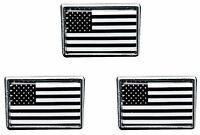 Black And White American Flag Lapel Pin USA Tie Tac Hat Pin (3 PACK)