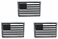 3 PACK Black And White American Flag Lapel Pin USA Tie Tac Hat Pin