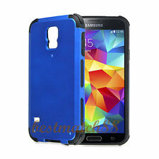 for Samsung galaxy  S5  case 2 layer  black blue shockproof hybrid s 5 /