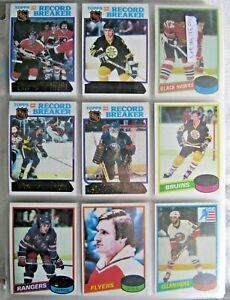 1980-81 TOPPS HOCKEY NEARLY COMPLETE UNSCRATCHED SET (259/264) HIGH GRADE NRMT+!