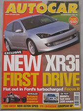 AUTOCAR 29/9/1999 featuring Ariel Atom, Honda S2000, BMW, Ford Focus R