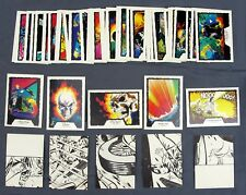 Comic Images 1990 Marvel Ghost Rider Trading Cards Series 1 Complete  Set #1-45