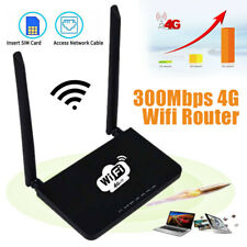 WiFi Router 4G LTE SIM 300Mbps Home Wireless Router CPE 2.4GHz Double Antenna