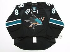 BURNS SAN JOSE SHARKS AUTHENTIC THIRD 25th ANNIVERSARY REEBOK EDGE 2.0 JERSEY