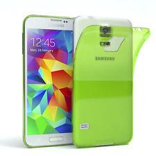 Ultra Slim Cover für Galaxy S5 / Neo  Case Silikon Hülle Transparent Grün
