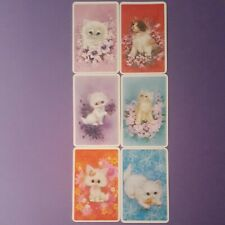 Swap cards vintage CATS - 6 GENUINE VINTAGE 1970'S CATS - COLLECTABLE