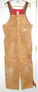 Carhartt® Duck Insulated Bib Overalls w/ Ankle to Thigh Zippers-36 x 30