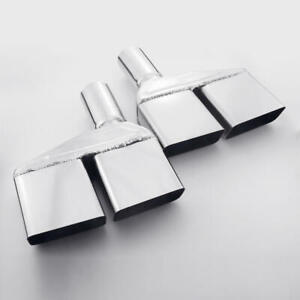 """2"""" Inlet Quad Sqaure Out Exhaust Tips For 70/71/72/73/74 Dodge Challenger SS304"""
