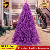 3 4 5 6 7 8 ft Purple Christmas Artificial Tree Home Decoration Custom UPS 3Days