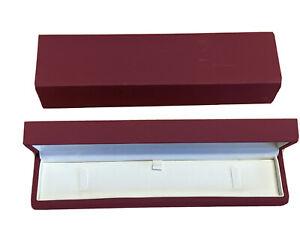 Red Soft Touch Dubai Range leather Bracelet Box Perfect Box Free Postage Gift