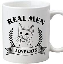 Real Men Love Cats - Funny 10 oz Dishwasher Proof  Safe Coffe Tea Mug