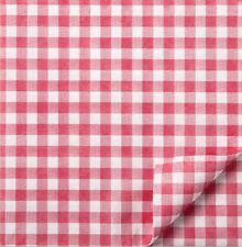 More details for red gingham cotton napkins / ultra soft feel / for single use only