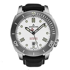 Anonimo Men's Nautilo White Dial Leather Strap Automatic Watch AM100204003A04