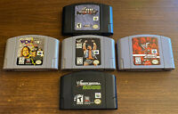 WWF Wrestling N64 Nintendo 64 WCW NWO No Mercy Wrestlemania 2000 5 Game Lot