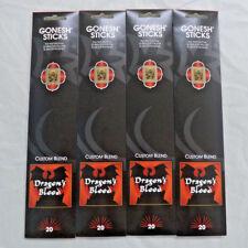 Gonesh Incense Dragon's Blood: 4 Packs of 20 Sticks = 80 Stick (Dragons)