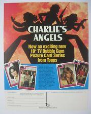 1977 TOPPS CHARLIE'S ANGEL TV TRADING CARDS SELL SHEET FARRAH FAWCETT