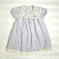 Vintage Bonnie Jean Little Girl Toddler Dress Lilac / Pastel Purple Size 4T