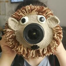Baby Kids Pet Photography Props Animal Cartoon Camera Buddies Lens Knitted Accs