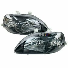 Black Housing Headlight Lamp Suits Honda Civic CXi GLi VTi VTi-R EK4 EK9 1999-00