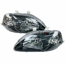 Black Housing Headlight Lamp Suits Honda Civic CXi GLi VTi VTi-R EK4 EK9 1999-00