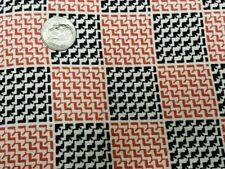 Best Vintage Feedsack Quilt Fabric 40s Red Black Geometric Wwii Flour Full Sack