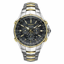 Seiko Men's Coutura Radio Sync Solar Chronograph Two Tone Steel Watch SSG010