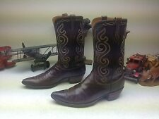 SAN ANTONIO LUCCHESE WESTERN COWBOY DISTRESSED ENGINEER TRAIL BOSS BOOTS 10.5 D