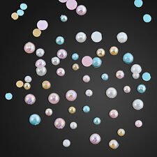Hot 3D CANDY AB Color Nail Art Tips Pearl Acrylic Glitter Manicure DIYDecoration