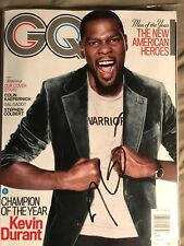 Kevin Durant Autograph Signed autograph 2017 GQ JSA  Golden State  Warriors