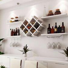 Weiß Schwarz Wand Regale + Wein Racks Flaschenhalter Sekt Glas Aufbewahrung