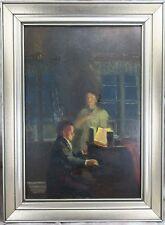 Blazek Josef Tomás 1884-1962 Abendliche Szene - Paar beim Musizieren