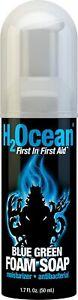 H2 Ocean Blue Green Foam Soap Fragrance Free 1.7 Fluid Ounce Exp. 2019