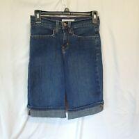 Levis 515 Women's size 4p Denim Shorts Cuffed