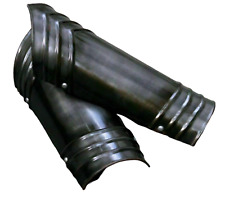 Medieval antique steel armor arm guard handmade with strip for halloween