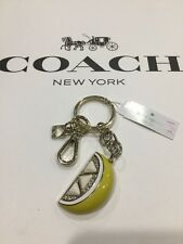 Kate Spade Lemon Fob Hangtag KEY RING KEY CHAIN Accessory Retail $45