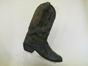 Lucchese 2000 Gray Leather Cowboy Western Boots Mens Size 12 D