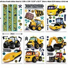 MY FIRST JCB Wall Decals Room Decorations Stickers Bulldozers Diggers Tractors