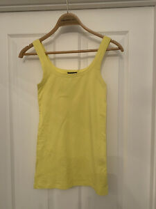 'theory' Vest Top Bright Yellow. S/P BNNT Cotton