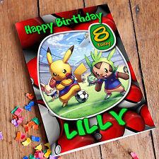 POKEMON PIKACHU  Personalised Birthday Card! FREE Shipping! PREMIUM quality!