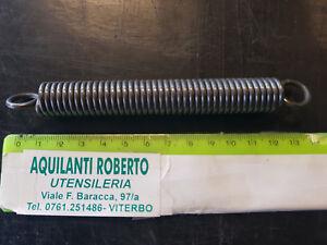 molla trazione acciaio armonico  L totale 138 mm - ø 16 mm - filo 2,5 mm 98191