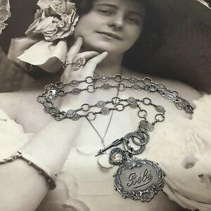 Vintage Catherine Popesco Silver NECKLACE Bebe La Vie Parisienne Estate Find