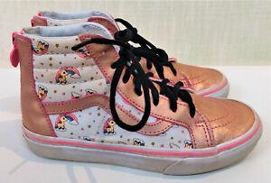 VANS Old Skool Girl's Rainbow My Little Pony Pink Hi Top Sneakers size 3
