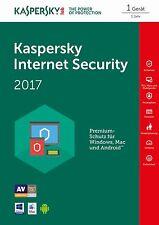 KASPERSKY Internet SECURITY 2017   10 Gerät(e) / 12 Mon NEU